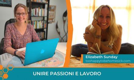 Unire passioni e lavoro: la storia di Elizabeth Sunday